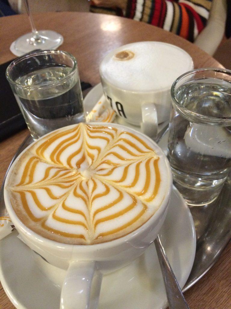 My latte. A+